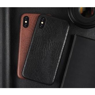 Rudas, Krokodilo Odos Imitacijos Dėkliukas iPhone 7 Plus /  8 Plus Telefono Modeliui