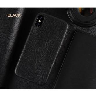 Juodas, Krokodilo Odos Imitacijos Dėkliukas iPhone XR Telefono Modeliui