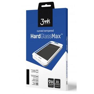 Apsauginis grūdintas stiklas 3MK ''Hard Glass'' telefonui A02s, juodais krašteliais