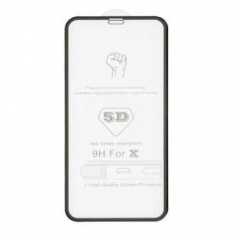 LCD apsauginis stikliukas juodais krašteliais telefonui iPhone 11 / XR