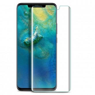 """Lenktas skaidrus apsauginis grūdintas stiklas Huawei Mate 20 Pro telefonui """"M1 5D UV Glue"""""""