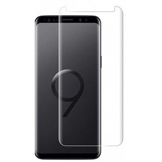 """Lenktas skaidrus apsauginis grūdintas stiklas Samsung Galaxy G960 S9 telefonui """"M1 5D UV Glue"""""""