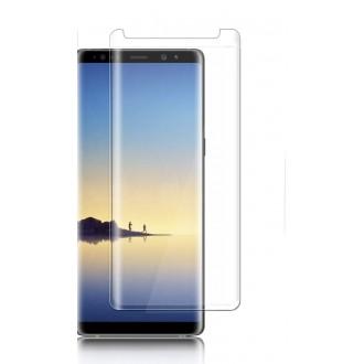 """Lenktas skaidrus apsauginis grūdintas stiklas Samsung Galaxy N950 Note 8 telefonui """"Nano Optics 5D UV Glue"""""""