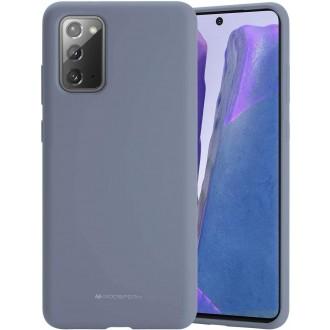 """Levandos pilkos spalvos dėklas """"Mercury Silicone Case"""" Samsung Galaxy N980 Note 20 telefonui"""
