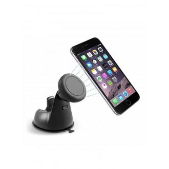 Magnetinis automobilinis universalus telefono laikiklis H04, tvirtinamas prie lango, trumpa-standi kojelė