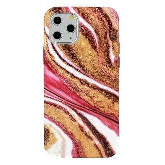Dėklas Marble Silicone Apple iPhone 12 / 12 Pro telefonui (Design 8)