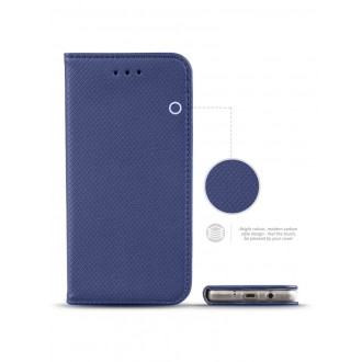 """Mėlynas atverčiamas dėklas Samsung Galaxy J5 2017 telefonui """"Smart Book Magnet"""""""