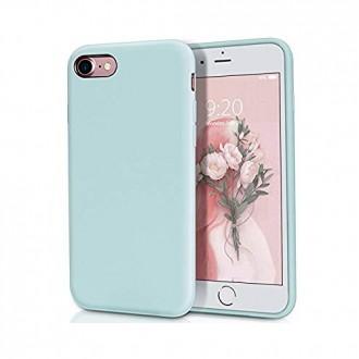 """Mėtos spalvos silikoninis dėklas Apple iPhone 7 / 8 / SE2 telefonui """"Liquid Silicone"""" 1.5mm"""