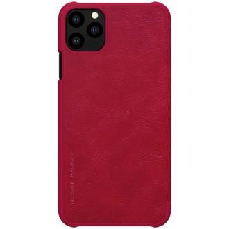 """Odinis raudonas atverčiamas dėklas Apple iPhone 11 Pro telefonui """"Nillkin Qin"""""""