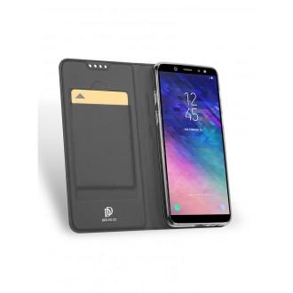 """Pilkas atverčiamas dėklas Samsung Galaxy A6 2018 telefonui """"Dux Ducis Skin"""""""