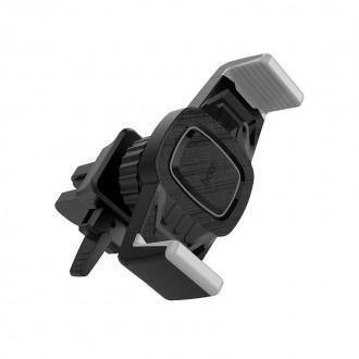 Pilkas-Juodas automobilinis Universalus telefono laikiklis HOCO CA38 , tvirtinamas ant ventiliacijos grotelių