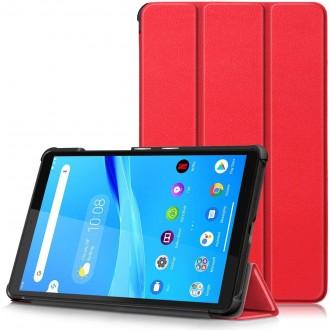 """Raudonas atverčiamas """"Smart Leather"""" dėklas Lenovo IdeaTab M10 X306X 4G 10.1"""