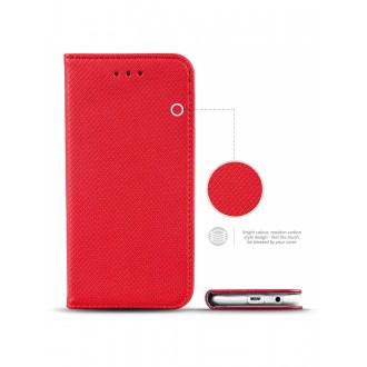 """Raudonas atverčiamas dėklas Samsung Galaxy A3 2017 telefonui """"Smart Book Magnet"""""""