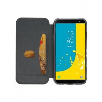 """Raudonas atverčiamas dėklas Samsung Galaxy J6 2018 telefonui """"Book Elegance"""""""
