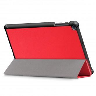 """Raudonas atverčiamas dėklas Samsung T510 / T515 Tab A 10.1 2019 """"Smart Leather"""""""
