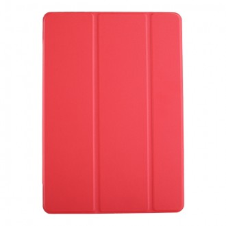 """Raudonas atverčiamas dėklas Samsung T970 / T976 Tab S7+ """"Smart Leather"""""""