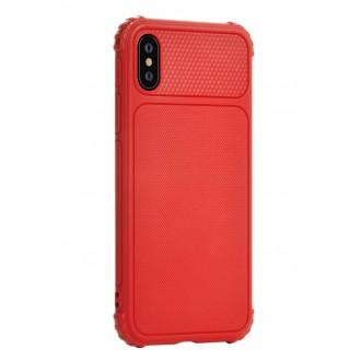 """Raudonas dėklas """"Devia Shark 1"""" Apple iPhone X / XS telefonui"""
