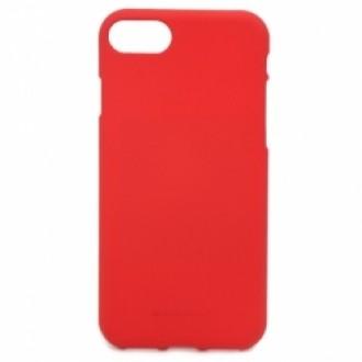 "Raudonas silikoninis dėklas Apple iPhone 7 / 8 / SE 2020 telefonui ""Mercury Soft Feeling"""