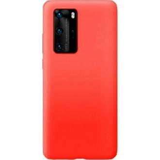 """Raudonas silikoninis dėklas Huawei P40 telefonui """"Mercury Soft Feeling"""""""