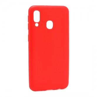 "Raudonas silikoninis dėklas Samsung Galaxy A202 A20e telefonui ""Mercury Soft Feeling"""