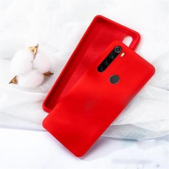 """Raudonas silikoninis dėklas Samsung Galaxy A21 telefonui """"Liquid Silicone"""" 1.5mm"""