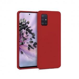 "Raudonas silikoninis dėklas Samsung Galaxy A715 A71 telefonui ""Mercury Soft Feeling"""
