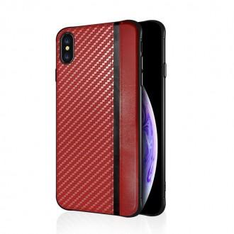 """Raudonas silikoninis dėklas Samsung Galaxy G970 S10e telefonui """"Mulsae Carbon"""""""