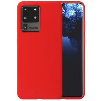 """Raudonas silikoninis dėklas Samsung Galaxy G988 S20 Ultra telefonui """"Liquid Silicone"""" 1.5mm"""
