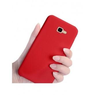 """Raudonas silikoninis dėklas Samsung Galaxy J4 Plus 2018 telefonui """"Silicone Cover"""""""