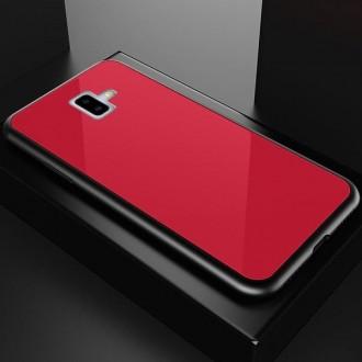 """Raudonas silikoninis dėklas Samsung Galaxy J610 J6 Plus 2018 telefonui """"Glass Case"""""""