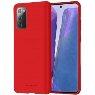 """Raudonas silikoninis dėklas Samsung Galaxy N980 Note 20 telefonui """"Mercury Soft Feeling"""""""