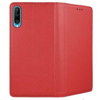 """Raudonos spalvos atverčiamas dėklas Huawei P Smart Pro 2019 / Honor Y9s telefonui """"Smart Magnet"""""""