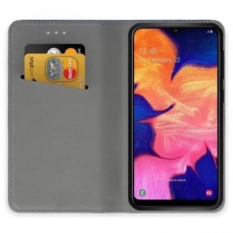 """Raudonos spalvos atverčiamas dėklas Samsung Galaxy A105 A10 telefonui """"Smart Magnet"""""""