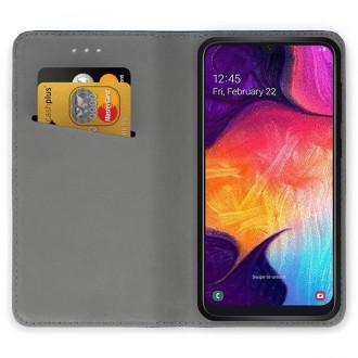 """Raudonos spalvos atverčiamas dėklas Samsung Galaxy A505 A50 / A507 A50s / A307 A30s telefonui """"Smart Magnet"""""""