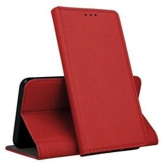 """Raudonos spalvos atverčiamas dėklas Samsung Galaxy S20 FE / S20 Lite telefonui """"Smart Magnet"""""""