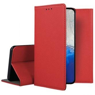 """Raudonos spalvos atverčiamas dėklas Samsung Galaxy S20 """"Smart Magnet"""""""