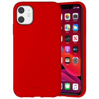 """Raudonos spalvos dėklas """"Mercury Silicone Case"""" Apple iPhone 11 telefonui"""