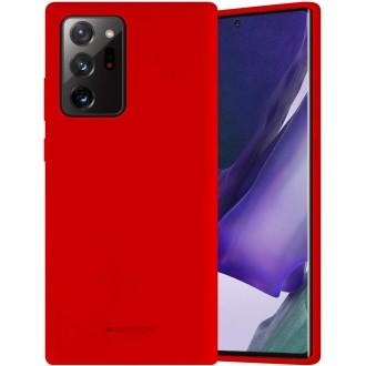"""Raudonos spalvos dėklas """"Mercury Silicone Case"""" Samsung Galaxy N985 Note 20 Ultra telefonui"""