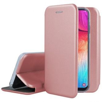 """Rožinės-auksinės spalvos atverčiamas dėklas Samsung Galaxy A515 A51 telefonui """"Book Elegance"""""""