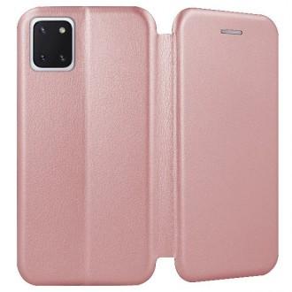 """Rožinės-auksinės spalvos atverčiamas dėklas Samsung Galaxy Note 10 Lite / A81 telefonui """"Book Elegance"""""""