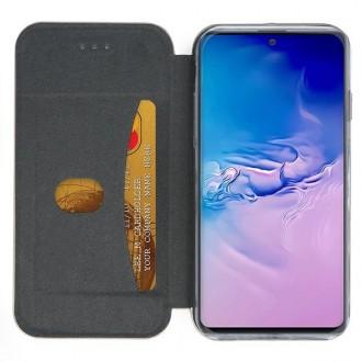 """Rožinės-auksinės spalvos atverčiamas dėklas Samsung Galaxy S10 Lite / A91 telefonui """"Book elegance"""""""