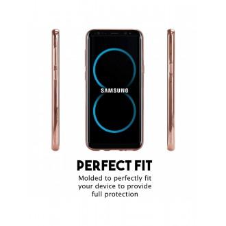 """Rožinės-auksinės spalvos silikoninis dėklas Samsung Galaxy G950 S8 telefonui Mercury Goospery """"Ring 2"""""""