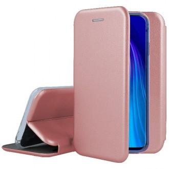 """Rožinis-auksinis atverčiamas dėklas Xiaomi Redmi Note 9 telefonui """"Book Elegance"""""""
