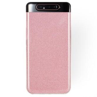 """Rožinis blizgantis silikoninis dėklas Samsung Galaxy A805 A80 telefonui """"Shining"""""""
