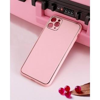 "Rožinis dėklas ""Gold Line"" Apple Iphone XR telefonui"