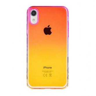 """Rožinis-geltonas dėklas """"Devia Aurora"""" Apple iPhone XR telefonui"""