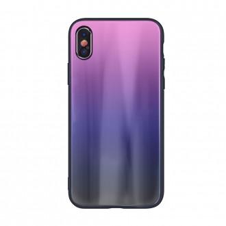 """Rožinis-Juodas dėklas Samsung Galaxy G986 S20 Plus telefonui """"Aurora"""""""
