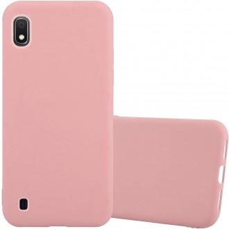 "Rožinis silikoninis dėklas Samsung Galaxy A105 A10 telefonui ""Liquid Silicone"" 2.0mm"