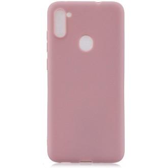 """Rožinis silikoninis dėklas Samsung Galaxy A11 telefonui """"Liquid Silicone"""" 1.5mm"""