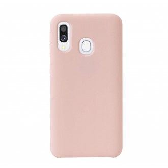 "Rožinis silikoninis dėklas Samsung Galaxy A405 A40 telefonui ""Liquid Silicone"" 2.0mm"